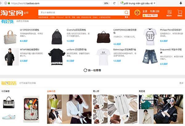 Taobao là trang thương mại điện tử uy tín để đặt hàng